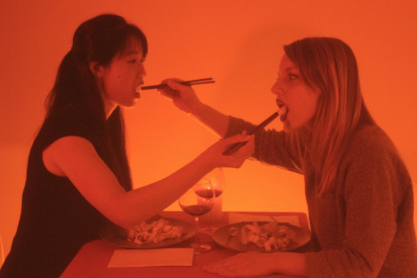 Image from Nourishment performance piece by Yulia Kovanova